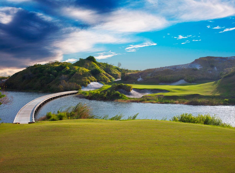 Streamsong Resort bridge over lake