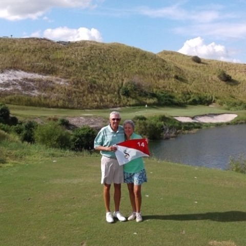 Congratulations to Ed Sweeney who made a Hole-In-One on Streamsong Red #14. The Sweeney's are visiting Streamsong from Ave Maria, Florida celebrating his wife's birthday as well as a fantastic ace on Coore and Crenshaw's Streamsong Red. ⛳ A very special day indeed! . . . #streamsong #streamsongresort #streamsongblue #holeinone #golf #golfer #golffl #lovefl #golfislife #golfcourse #golfing #hitthelinks
